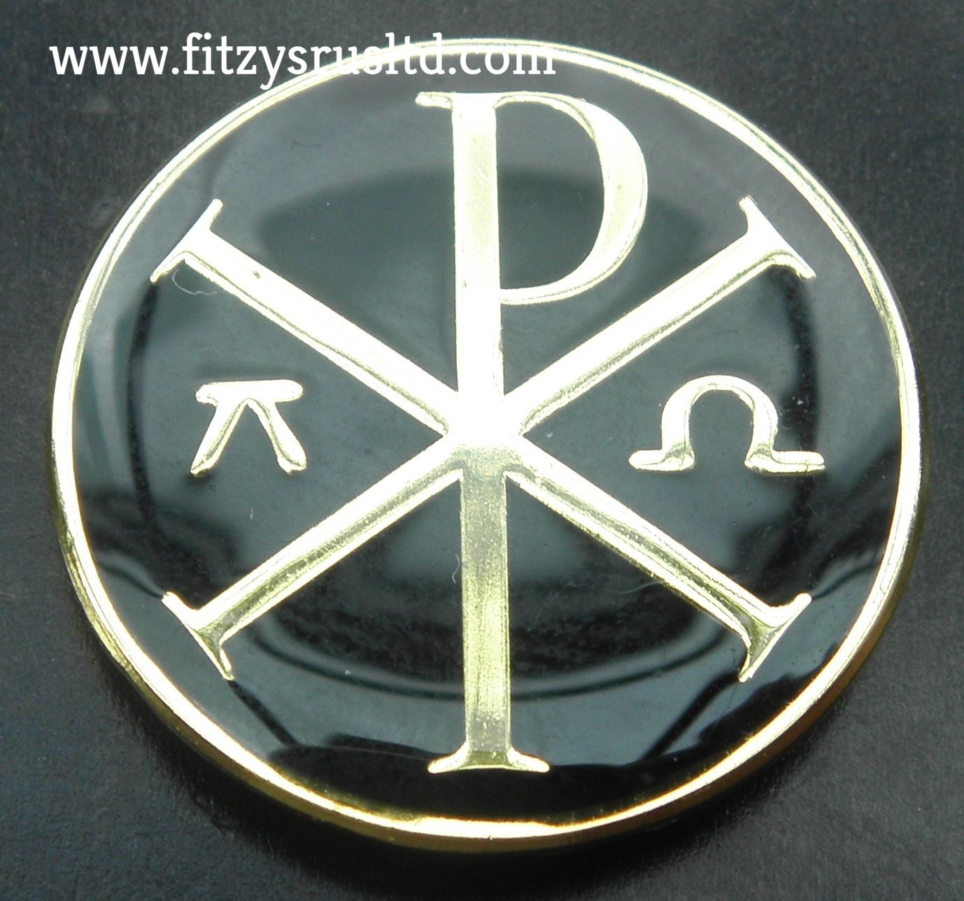 Chi Rho With Alpha Omega Lapel Hat Tie Pin Badge Christian Chi Rho